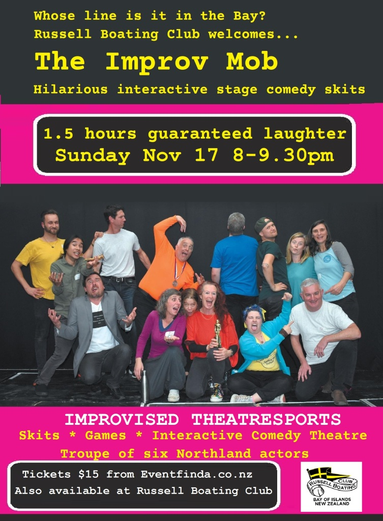 Improv Mob Theatresports show at the Russell Boating Club, Sunday Nov 17 2019